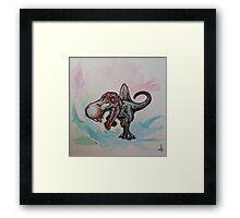 Watercolor Spnosaurus Framed Print