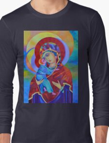Virgin Mary with Child Jesus icon Long Sleeve T-Shirt