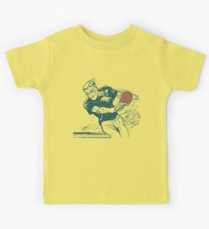 Ping pong, retro vector expressionist Kids Tee