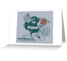 Ping pong, retro vector expressionist Greeting Card