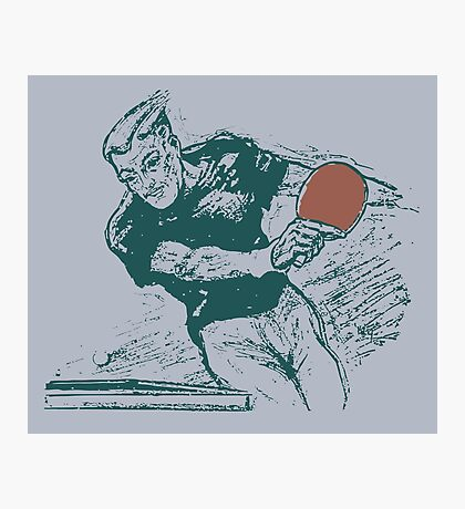 Ping pong, retro vector expressionist Photographic Print