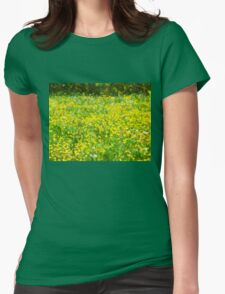 Buttercup Bokeh Womens Fitted T-Shirt