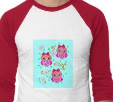 cute little owls Men's Baseball ¾ T-Shirt