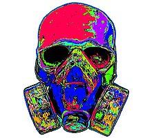 Toxic skull (pink) Photographic Print