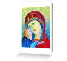 Madonna with infant Jesus icon  Greeting Card