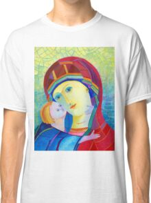 Madonna with infant Jesus icon  Classic T-Shirt