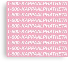 Kappa Alpha Theta Hotline Bling Canvas Print