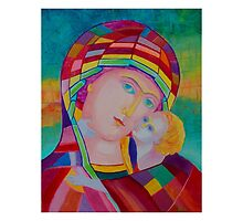 Blessing Mother of God icon by tanabe