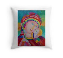 Blessing Mother of God icon Throw Pillow