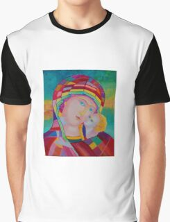 Blessing Mother of God icon Graphic T-Shirt