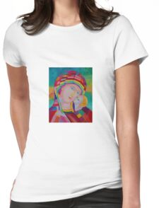 Blessing Mother of God icon Womens Fitted T-Shirt