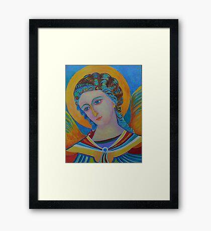 Archangel Gabriel oil painting Framed Print