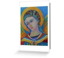 Archangel Gabriel oil painting Greeting Card