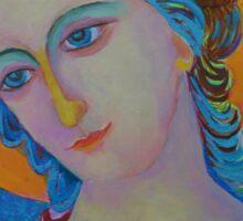 Archangel Gabriel oil painting Sticker