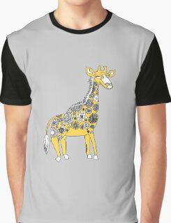 Giraffe with Flower Spots Graphic T-Shirt