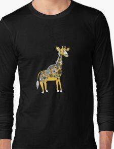 Giraffe with Flower Spots Long Sleeve T-Shirt