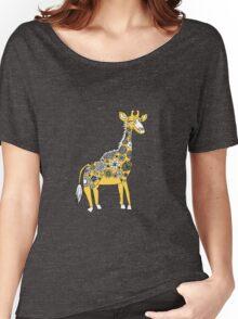 Giraffe with Flower Spots Women's Relaxed Fit T-Shirt