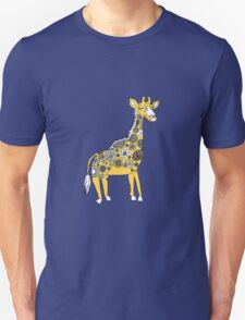 Giraffe with Flower Spots Unisex T-Shirt
