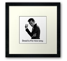 Sherlock - Dead Is The New Sexy Framed Print