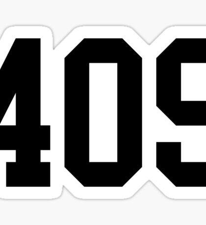 409 varsity Sticker