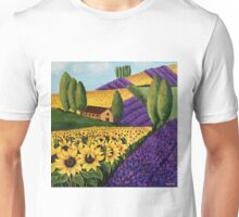 Sunflowers and Lavender Field Unisex T-Shirt