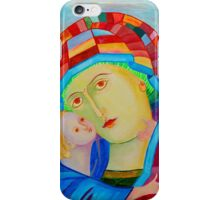 Our Lady Santa Maria nursing Christ holy icon iPhone Case/Skin