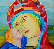 Our Lady Santa Maria nursing Christ holy icon by tanabe