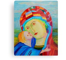 Our Lady Santa Maria nursing Christ holy icon Metal Print
