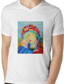 Our Lady Santa Maria nursing Christ holy icon Mens V-Neck T-Shirt