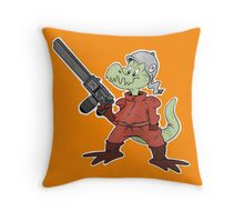 Dino Soldier Throw Pillow