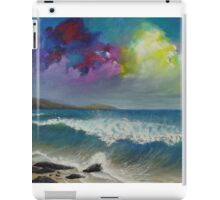 Original colorful seascape painting with ocean waves and a bright bold stormy sky iPad Case/Skin