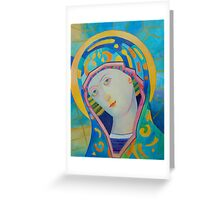 Queen of Heaven, Madonna Virgin Mary icon Greeting Card