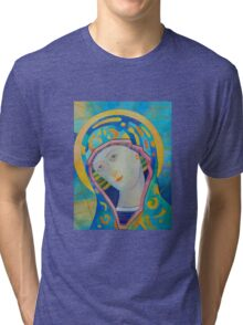 Queen of Heaven, Madonna Virgin Mary icon Tri-blend T-Shirt