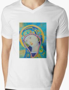 Queen of Heaven, Madonna Virgin Mary icon Mens V-Neck T-Shirt