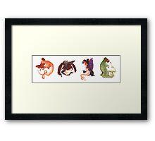 Dragon Doodles Framed Print