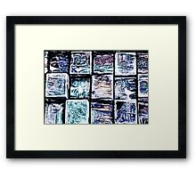 'Gum Bricks' - Iced Chewing Gum in Abstract Framed Print