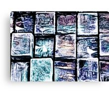 'Gum Bricks' - Iced Chewing Gum in Abstract Canvas Print