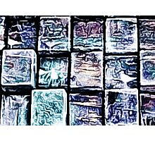'Gum Bricks' - Iced Chewing Gum in Abstract Photographic Print