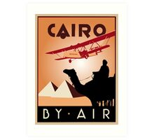 Cairo by air retro vintage travel Art Print