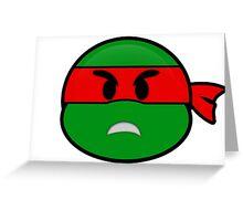 Emoji Raphael - Angry Greeting Card