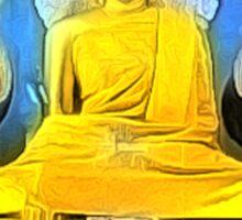 'Golden Buddha' - Gold Buddha Statue Sticker