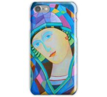 Lady of Guadelupe icon hand made in oil iPhone Case/Skin