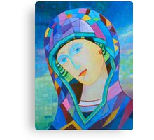 Lady of Guadelupe icon hand made in oil Canvas Print