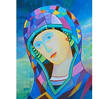 Lady of Guadelupe icon hand made in oil Photographic Print