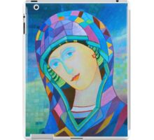 Lady of Guadelupe icon hand made in oil iPad Case/Skin
