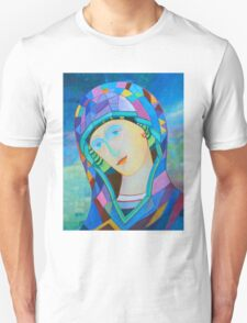 Lady of Guadelupe icon hand made in oil T-Shirt