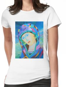 Lady of Guadelupe icon hand made in oil Womens Fitted T-Shirt