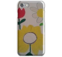Oil Pastel Flower Picture iPhone Case/Skin