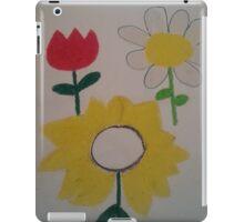 Oil Pastel Flower Picture iPad Case/Skin