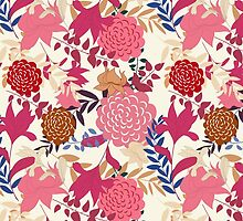 Girly Retro Floral Pattern by sale